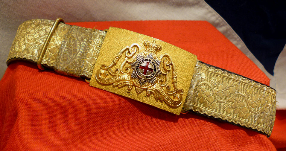 Victorian Life Guards belt and Buckle