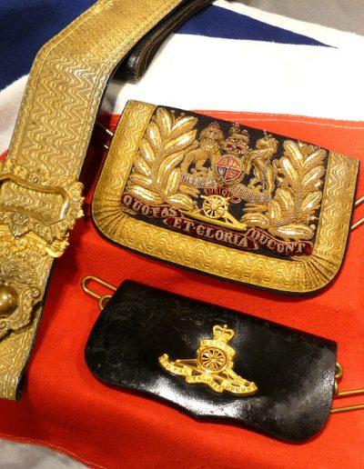 Victorian Royal Artillery cross-belt and pouches